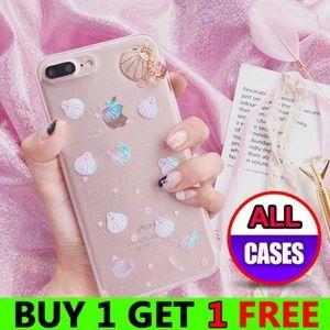 *NEW iPhone X/XS/7/8/Plus 3D Glitter Shell Case